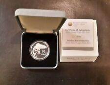 IRELAND 15 EURO SILVER PROOF COIN. 2011 SALMON.