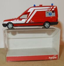 MICRO HERPA HO 1/87 MERCEDES-BENZ W 210 BINZ INCENDIE AMBULANCE LUXEMBOURG BOX