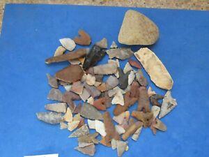 Wonderful Lot (90)  Sahara Neolithic projectile points 4,000 B.C.