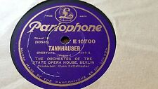 WAGNER TANNHAUSER OVERTURE ORCHESTRA OF THE STATE OPERA HSE PARLOPHONE E10699-70