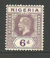 Album Treasures Nigeria Scott # 28  6p George V Mint Hinged