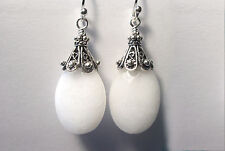 SALE   Natural White Onyx 925 Sterling Silver Earrings