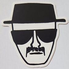*** Heisenberg - Breaking Bad Sticker - Schwarz/Weiß - Hut - ca. 6x7cm***