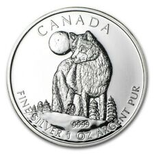 2011 Canada 1 oz Silver Wildlife Series Wolf - SKU #59085