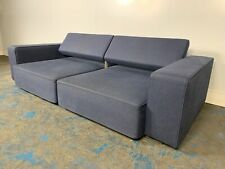 "Superb B&B Italia ""Andy AD248"" Large 3-Seat Sectional Sofa in ""Semio"" Mid-Blu..."
