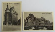 Bruxelles Brüssel Belgien 2 alte Postkarten 1940 CPA Palais Royal & Porte de Hai