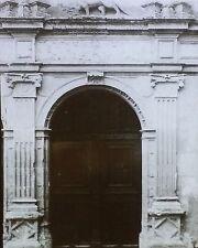 Carved Doorway, Château d'Azay-le-Rideau, France, Magic Lantern Glass Slide