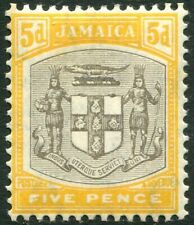 JAMAICA-1907 5d Grey & Orange-Yellow Sg 43 LIGHTLY MOUNTED MINT V28714