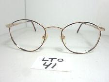 Nos Vtg 1980s J. David 233 Round Eyeglass Frame Gold Tortoise Unisex (Lto-41)