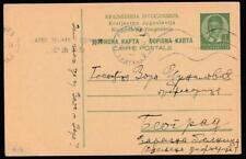 YUGOSLAVIA SKOPJE (now North Macedonia) 1938 STATIONERY CARD TO BEOGRAD