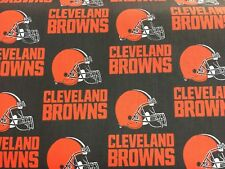 """CLEVELAND BROWNS  NFL 60"""" COTTON FABRIC BY THE HALF YARD Fabric Traditions"""
