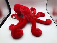 Monterey Bay Aquarium Red Octopus Squid Plush Kids Soft Stuffed Toy Animal Doll