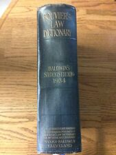 Bouvier's Law Dictionary:  Baldwin's Students Edition (1934) - Hardcover