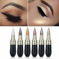 6 Colors Novel Eyeliner Eyeshadow 2 in 1 Eye Makeup Pencil Metallic Shimmer UK~