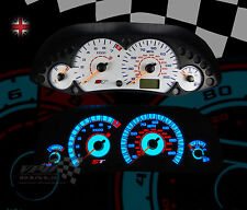 FORD FOCUS ST MK1 160MPH SPEEDO PLASMA WHITE DIAL KIT WITH CENTRE DIAL