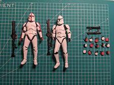 Star Wars Bandai SH Figuarts Clone Trooper Phase I Action Figure Lot Of 2