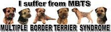 """I Suffer from  MULTIPLE  BORDER TERRIER  SYNDROME"" Dog Car Sticker by Starprint"