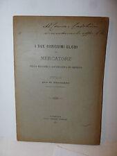 Geografia, Buonanno: Due Rarissimi Globi Mercatore Cremona 1890 dedica autore