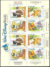 Canada 1996 DISNEY/WINNIE L'OURSON/CARICATURES/Livres/Ours/Teddy 16 V Bklt (s6163)