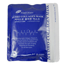 Purederm Hydro Collagen Facial Mask Sheet Moisture Skin Care (1 Pack 25 Sheet)