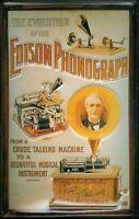 Edison Fonografo Evolution Segno Metallo Insegna 3D Rilievo Targa 20 x 30 CM