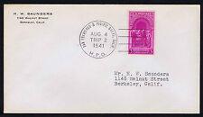 US #854 ON 1941 H.P.O. 1ST TRIP COVER SAN FRANISCO - PACIFIC GROVE CA (ESP#699)