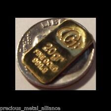 20 GRAIN gr PURE 999 FINE JUMBO 24K GOLD BULLION CERTIFIED BAR