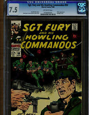 SGT. FURY AND HIS HOWLING COMMANDOS #58 CGC 7.5 HITLER APPEARANCE 1968 OFF WHITE