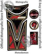 YAMAHA YZF R125 08 - 16 Noir Rouge Moto Réservoir Pad Motografix Gel Protecteur