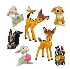 Disney BAMBI 7 Piece Party Cake Toppers Figure Play Set NEW!