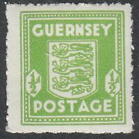 Stamp Germany Guernsey Mi 01e Sc N1 WWII 1941 War Germany Occupation England MNH