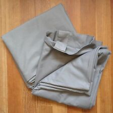 West Elm Curtains Window Panels Drapes 48x108 Slate Grey Hidden Tabs Cotton Pair