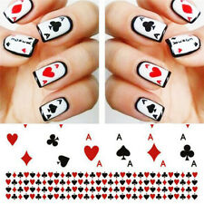 Sheet Nail Art Poker Water Transfer Sticker Decals Playing Cards Design Manicure