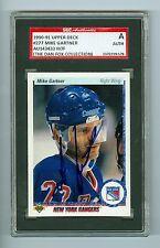 Mike Gartner Autographed 1990-91 Upper Deck Card #277 SGC Authentic Encased