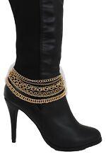 New Women Fashion Boot Bracelet Gold Metal Chain Anklet Shoe Charm Multi Strands