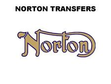 Norton Commando Tank Transfers and Decals Motorcycle D50210 Gold Blue