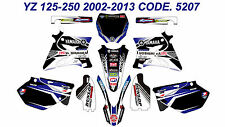 5207 YAMAHA YZ 125-250 2002-2013 Autocollants Déco Graphics Stickers Decals Kits