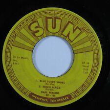 Rockabilly 45 CARL PERKINS Blue Suede Shoes SUN 4-song EP HEAR