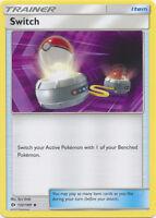 4x Switch - 132/149 - Uncommon Sun & Moon Base Set Pokemon Near Mint