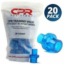 CPR Assistant CPR 1 Way Valves - 20 Pack, for CPR Resuscitation Training