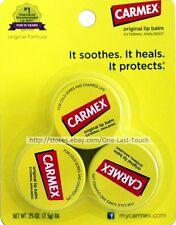 CARMEX^* 3pc Lip Balm Set ORIGINAL FORMULA External Analgesic JARS/Tubs (carded)