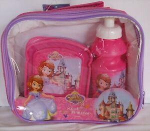 Kids Sofia Sweet Princess Character School Lunch Bag/Sandwich Box & Sports Cup