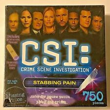 CSI Crime Scene Investigation Stabbing Pain Jigsaw Puzzel 750 Pieces New Sealed