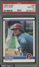 1984 Fleer #46 Pete Rose Philadelphia Phillies PSA 10 GEM MINT