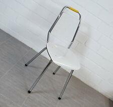 alter exklusiver Resopal Chrom Stuhl Küchenstuhl Bastdekor Vintage 60er Jahre
