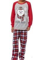 NTW Holiday Baby Bear Pajamas-Red Plaid Fleece- 2 Piece PJ set Toddler Boys 2T