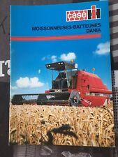 brochure prospekt PROSPECTUS MOISSONNEUSE BATTEUSE CASE IH DANIA tracteur