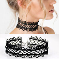Gothic Vintage Stretch Lace Wide Choker Necklace for Women Party Jewelry Gift