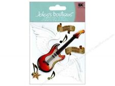 ROCK STAR Guitar Band Group Music Angel Wings Jolee's Stickers Scrapbook Crafts