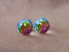 Faceted Ball HYPOALLERGENIC  Stud Earrings Swarovski Crystal Elements  Vitrail